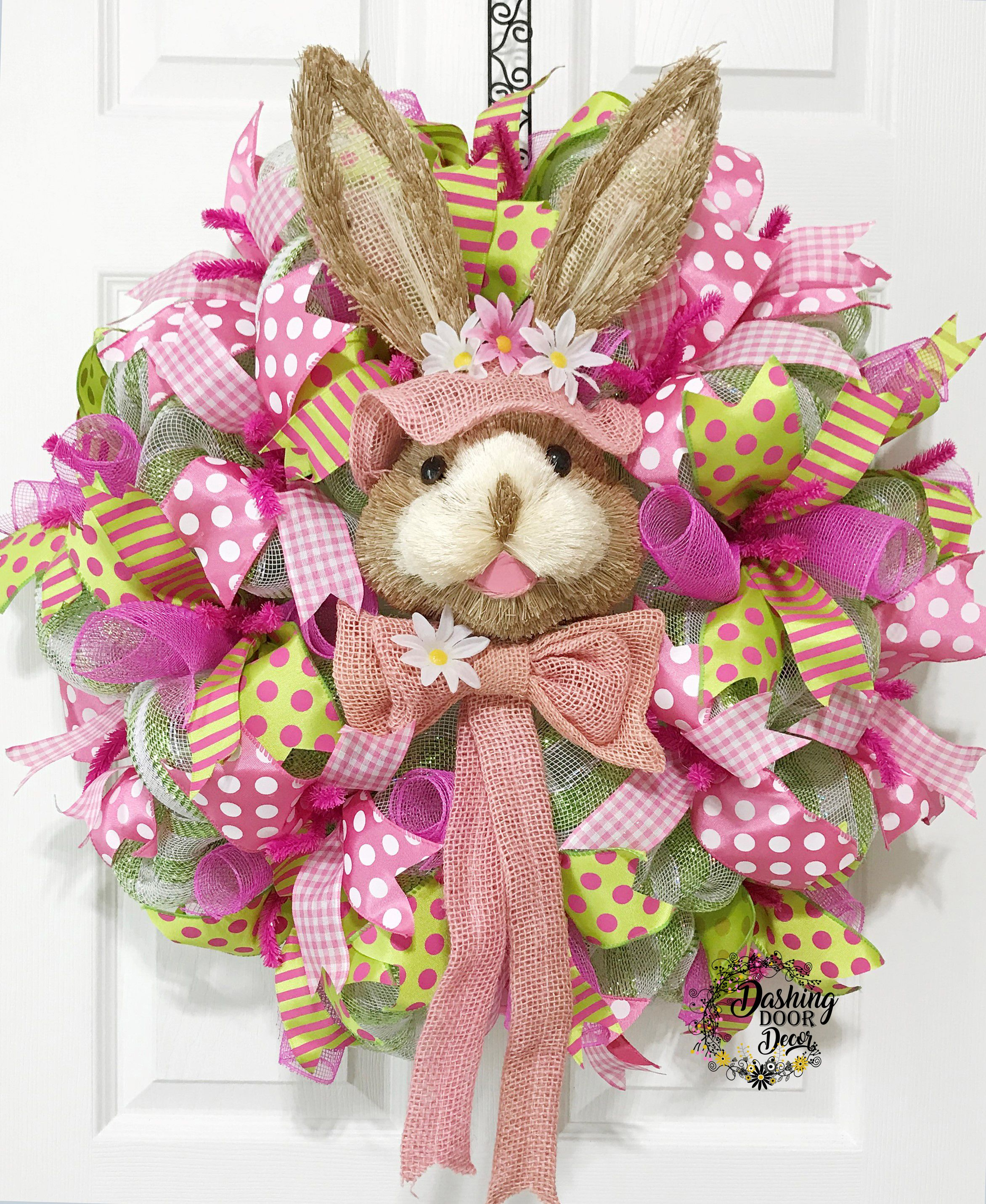 14+ How to make a burlap bunny wreath inspirations