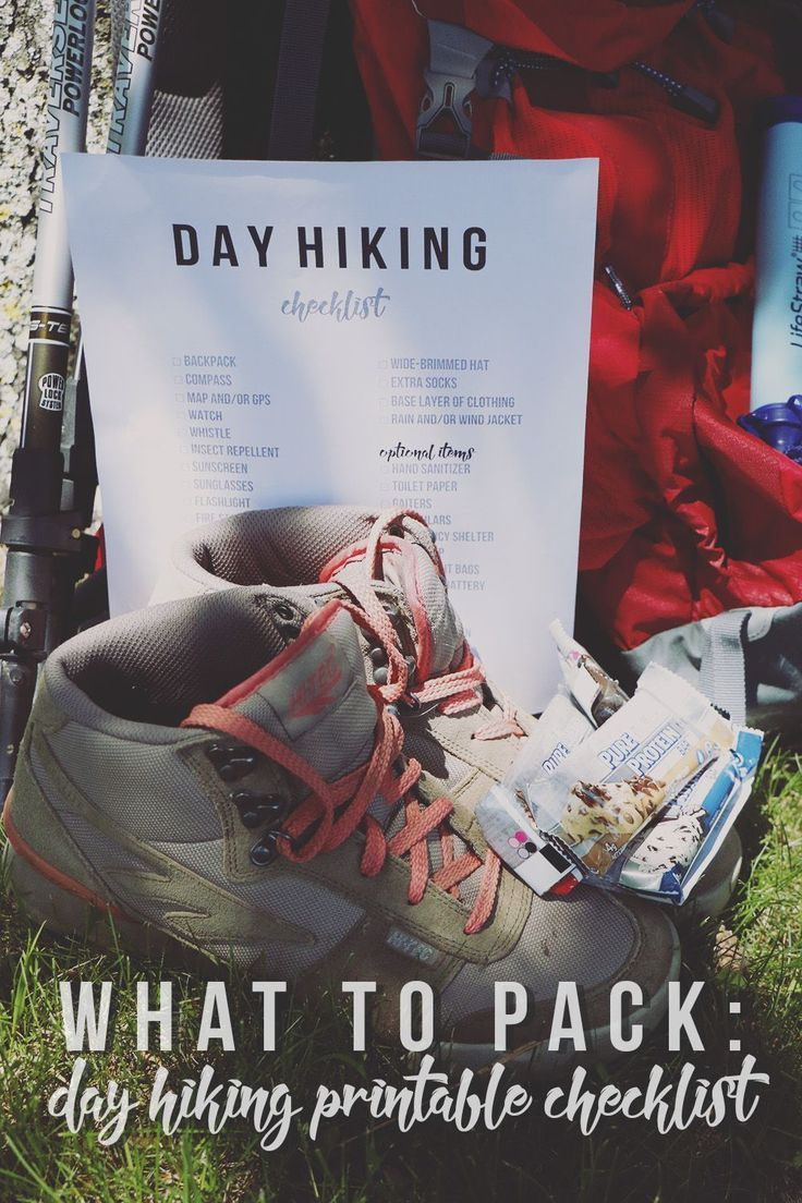Photo of What to Pack: Day Hiking Printable Checklist