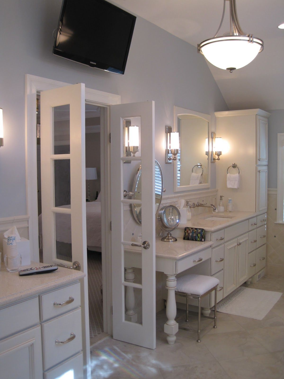 29 Awesome Bath Master Split Double Vanity Fancydecors Master Suite Bathroom Master Bedroom Renovation Master Suite Addition [ 1600 x 1200 Pixel ]