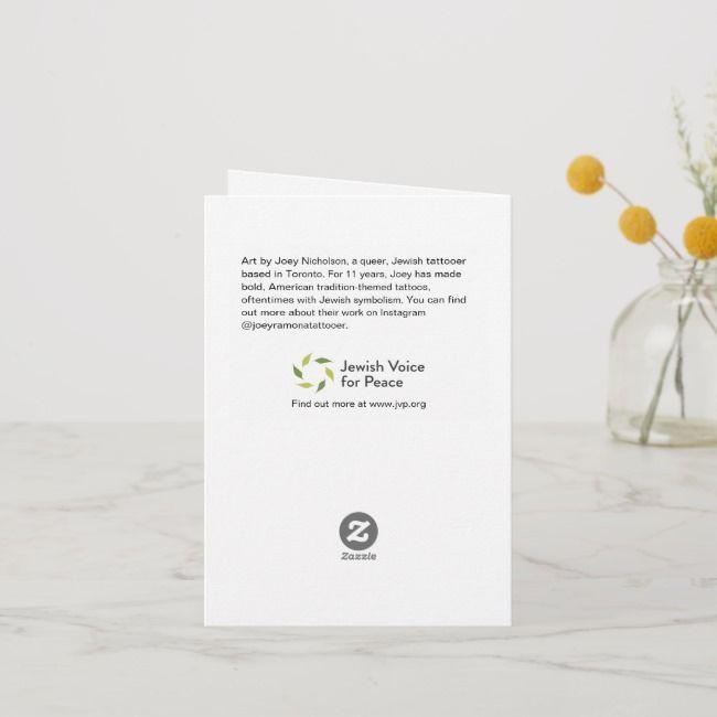 Jewish Voice for Peace Rosh Hashanah Card | Zazzle.com #roshhashanah Jewish Voice for Peace Rosh Hashanah Card , #affiliate, #Rosh#Hashanah#Card#Peace #Ad #roshhashanah