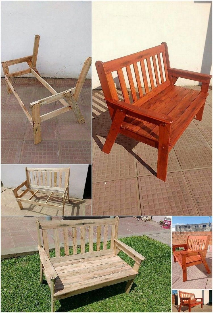 Terrific Diy Pallet Garden Bench Step By Step Plan Build Furniture Evergreenethics Interior Chair Design Evergreenethicsorg