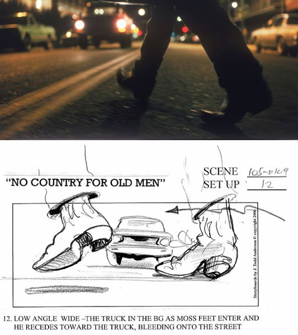 No Country for Old Men storyboard