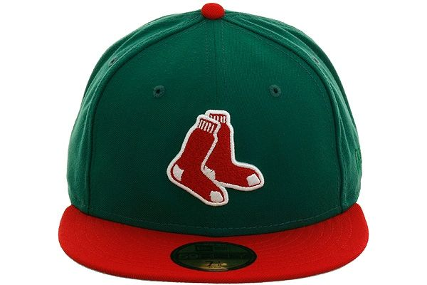 New Era 2Tone Boston Red Sox 2Sox Fitted Hat - Green, Red, White