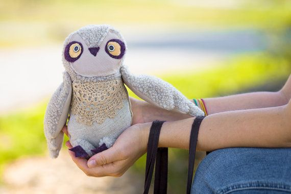 Owly owl's  twin brother soft art toy  by by wassupbrothers, $60.00  I LOVE THIS SWEET DOLL!