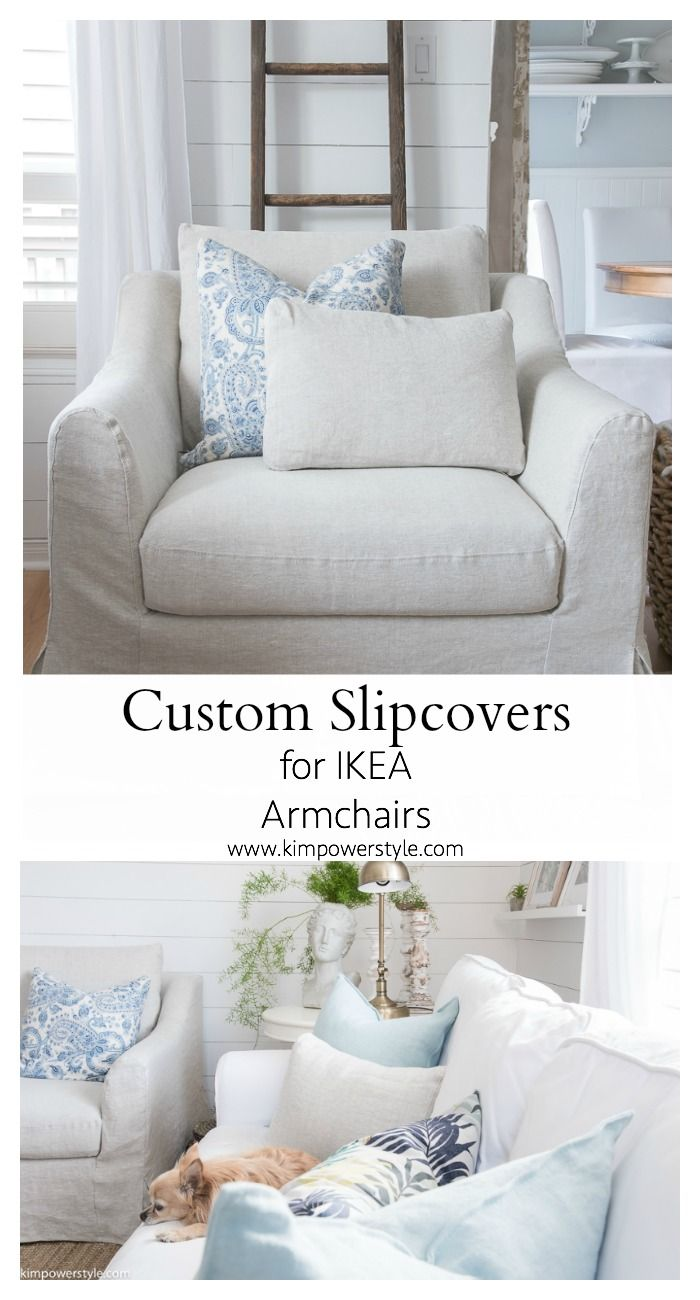 Custom Slipcovers for my Ikea Armchairs   Ikea armchair, Custom ...