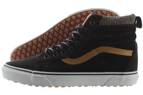 8a57a141e9d245 Vans SK8-Hi MTE VN000XH4JTF Black Tweed Suede Leather Shoes Medium (D M) Men