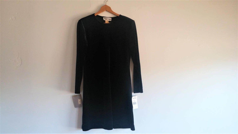 Us nordstromus black velvet mini dress deadstock black velvet