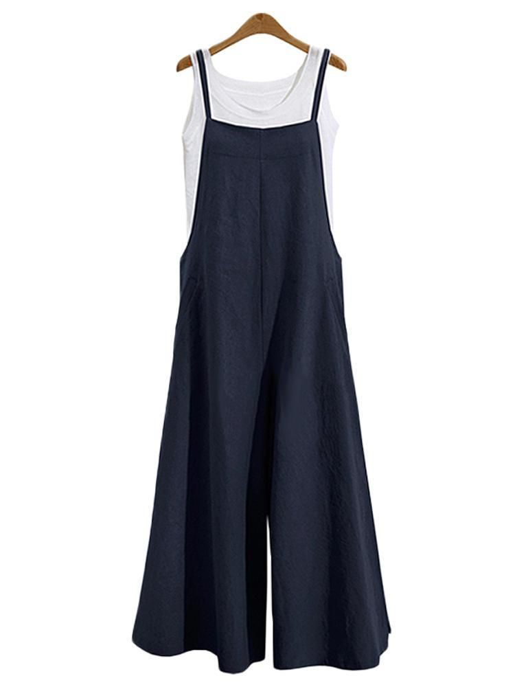 11bfc48e28d Casual Loose Solid Tank Jumpsuit For Women – laddytopia