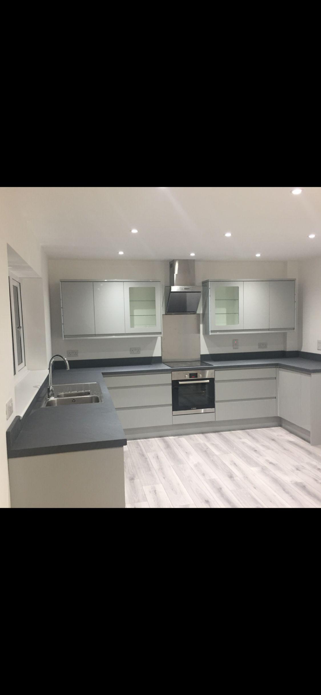 Küchendesignhaus grey modern kitchen  häuser in   pinterest  haus