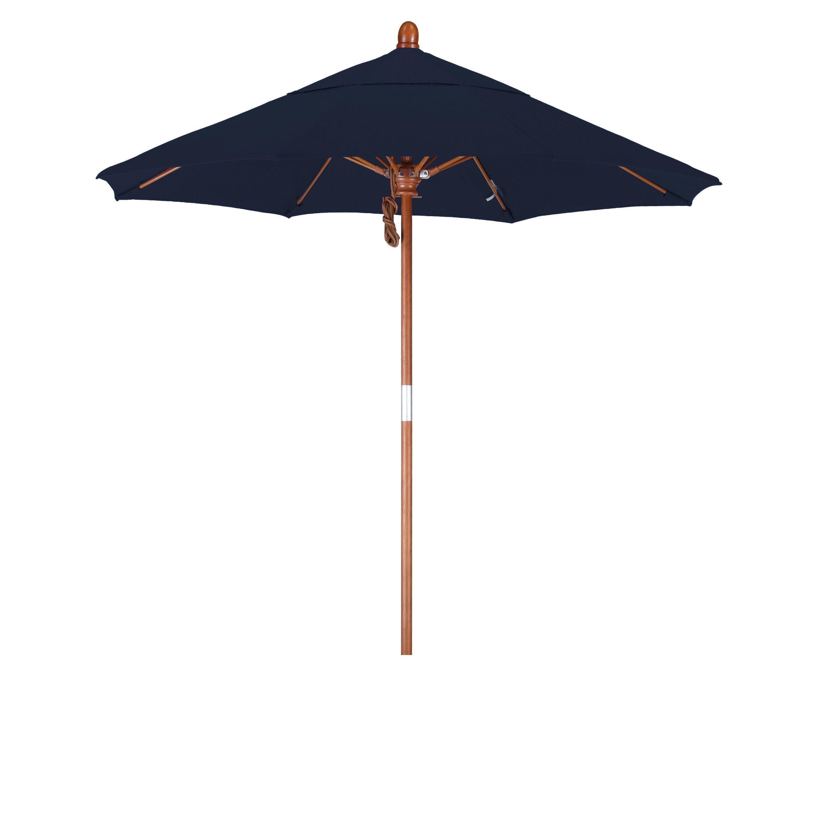 California Umbrella 7 5 Rd Marenti Wood Frame Fiberglass Rib