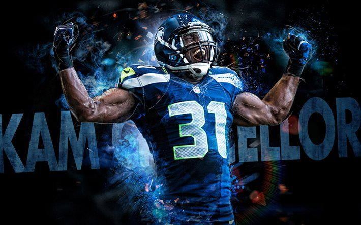 e042a265 Download wallpapers Kam Chancellor, NFL, fan art, Seattle Seahawks ...