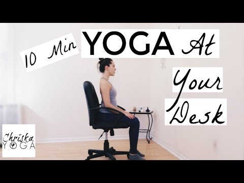 10 yoga at your desk  10 min office yoga stretches