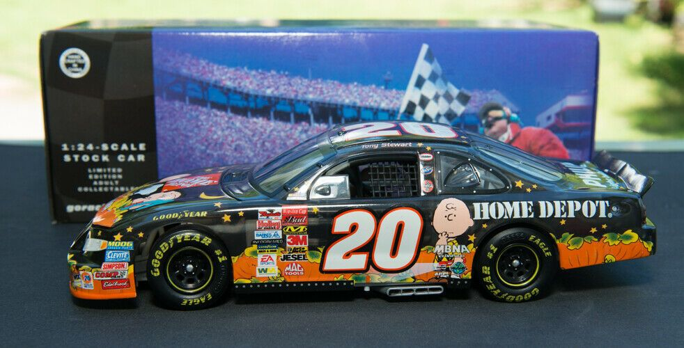 Tony Stewart 20 Home Depot Great Pumpkin Peanuts 2002 Nascar 1 24 Diecast Action Pontiac Nascar Nascar Champions Diecast