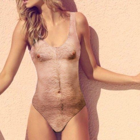 88e3d8a27 This hairy bathing suit, called the Sexy Chest One Piece Swimsuit by Beloved  Shirts is confusing people—and going viral in the process.
