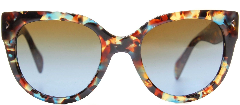 Prada PR 17OS NAG0A4 Havana Spotted High Fashion Cat Eye Sunglasses ...