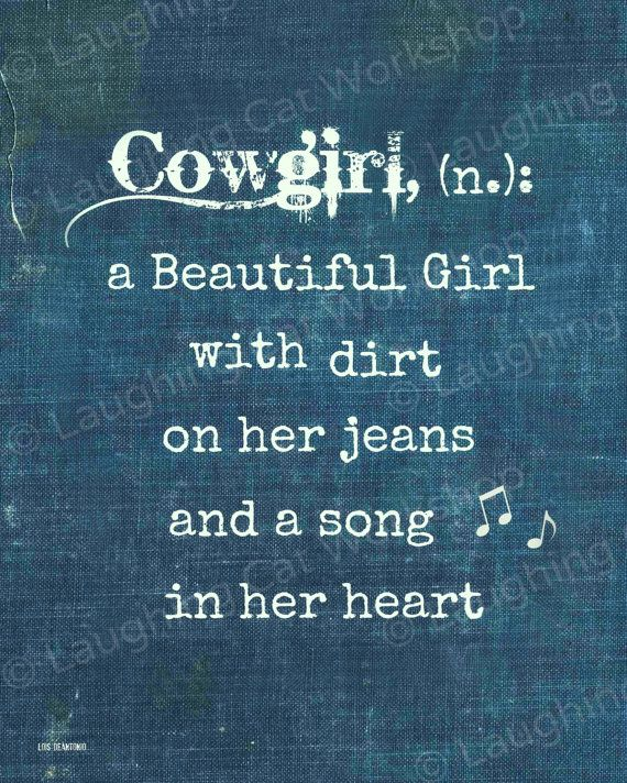 Funny Country Girl Wall Art girly girl quote art print Denim | Etsy