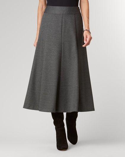 Ponte Perfect™ melange boot skirt | Coldwater Creek