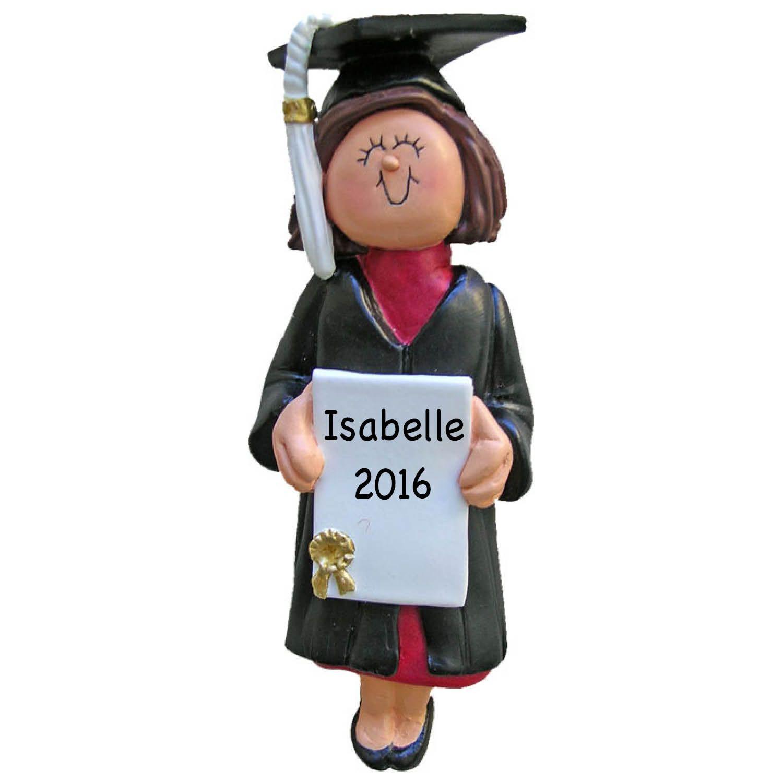Personalized Female Graduate Ornament