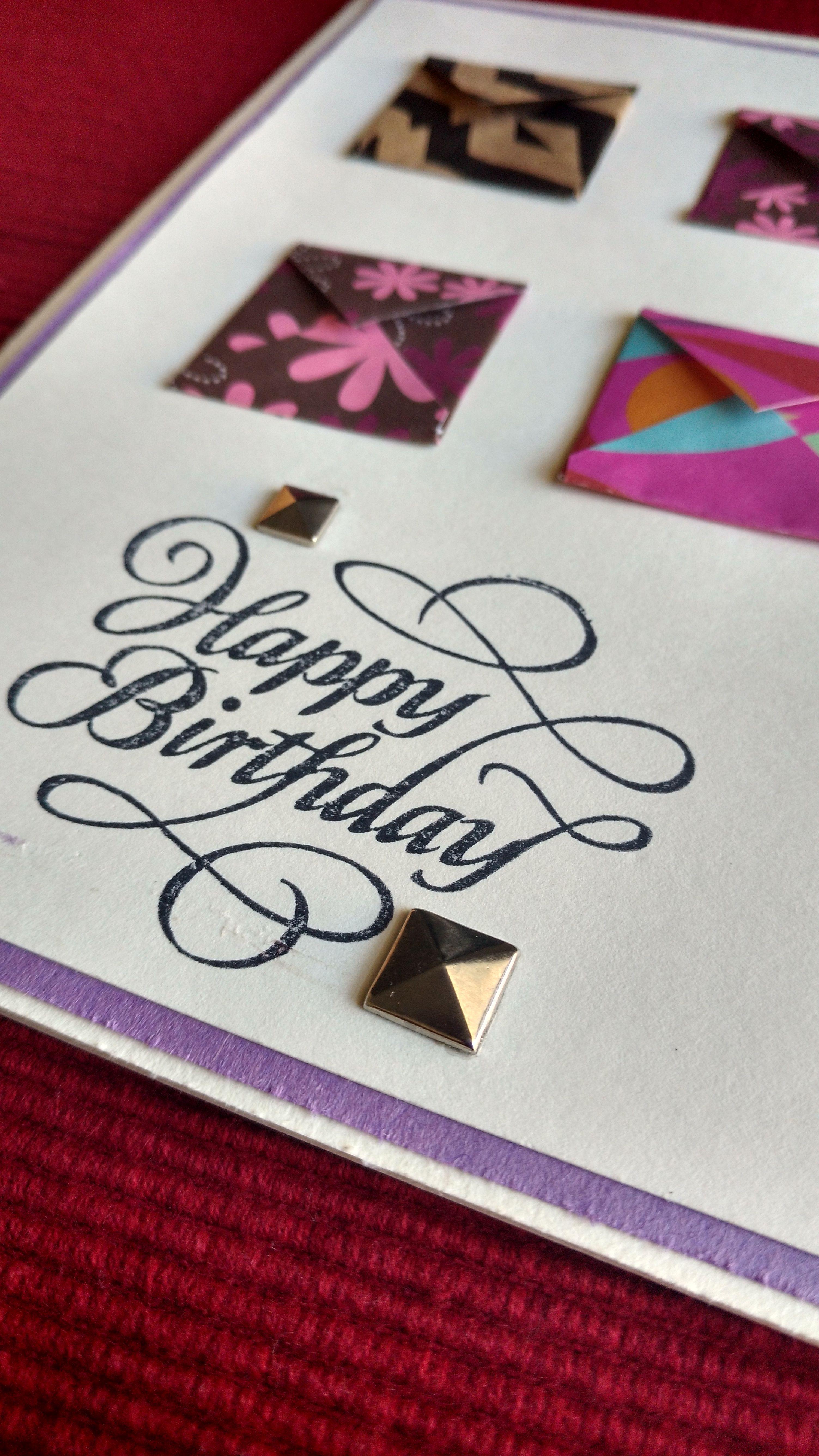 Cute Mini Envelopes Birthday Card