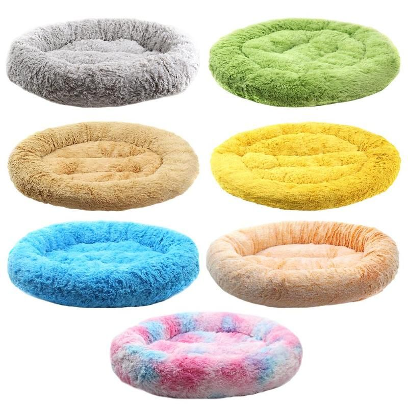 Soft Warm Round Pet Cat Bed Comfortable Pet Nest Dog Cat