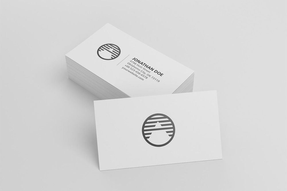 Blank Business Card Mockup PSD | Business Cards Design | Pinterest ...