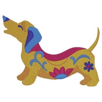 Whimsical Wiener Dog Embroidery Design Babylock Embroidery
