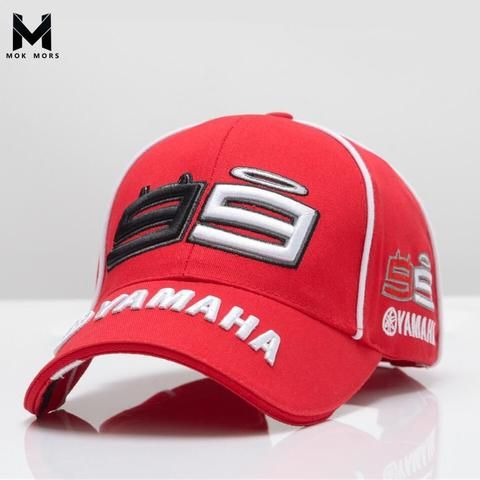 1d7ef3cbb2175 2018 High Quality MOTO GP 99 Motorcycle 3D Embroidered F1 Racing Cap Men  Women Snapback Caps Rossi 99 Baseball Cap YAMAHA Hats
