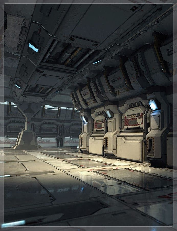 Space Engine Room: Sci Fi Environment, Spaceship