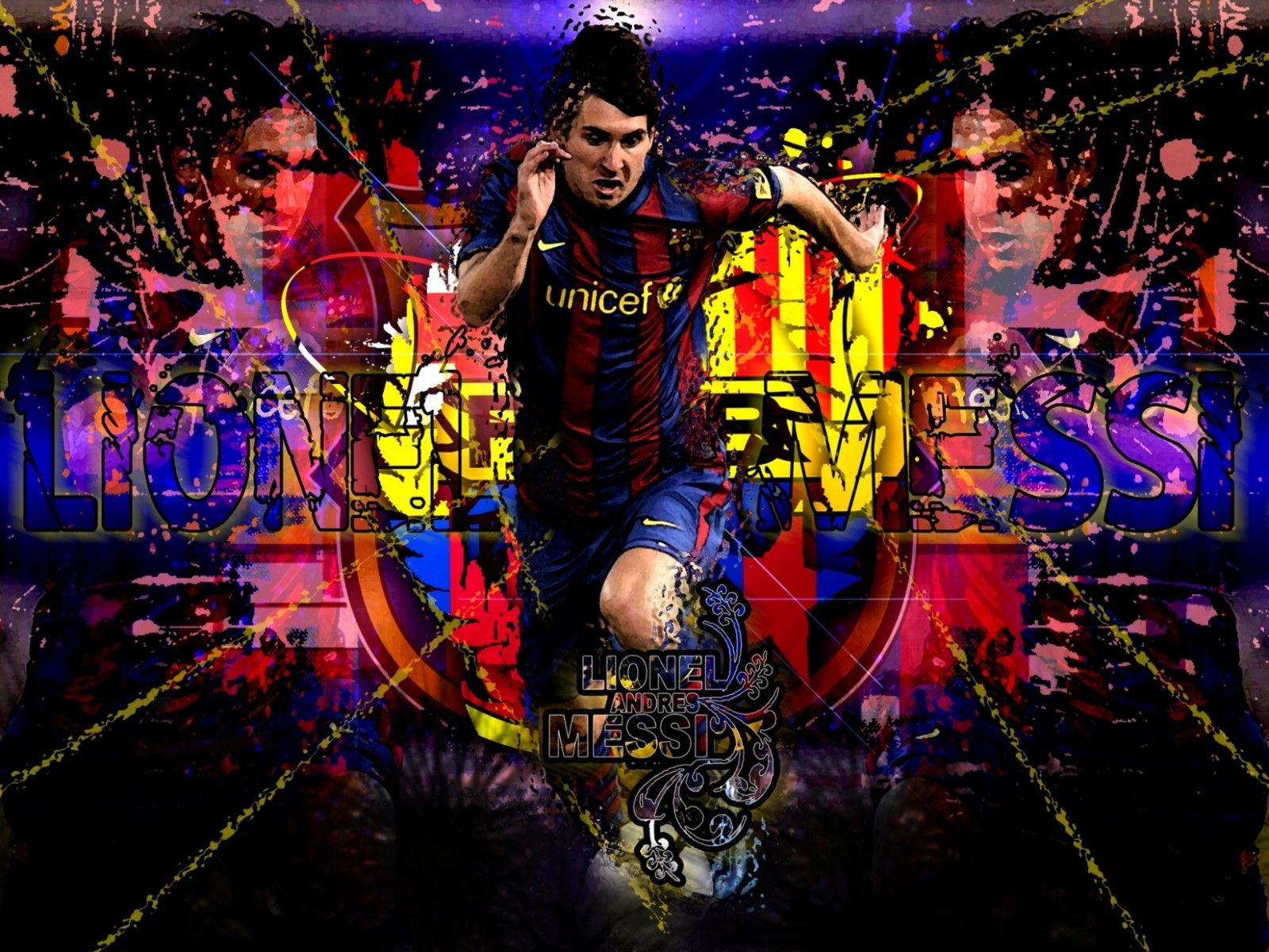 Fondos De Pantalla Del Fútbol Club Barcelona Wallpapers: Fc Barcelona Messi HD Wallpaper