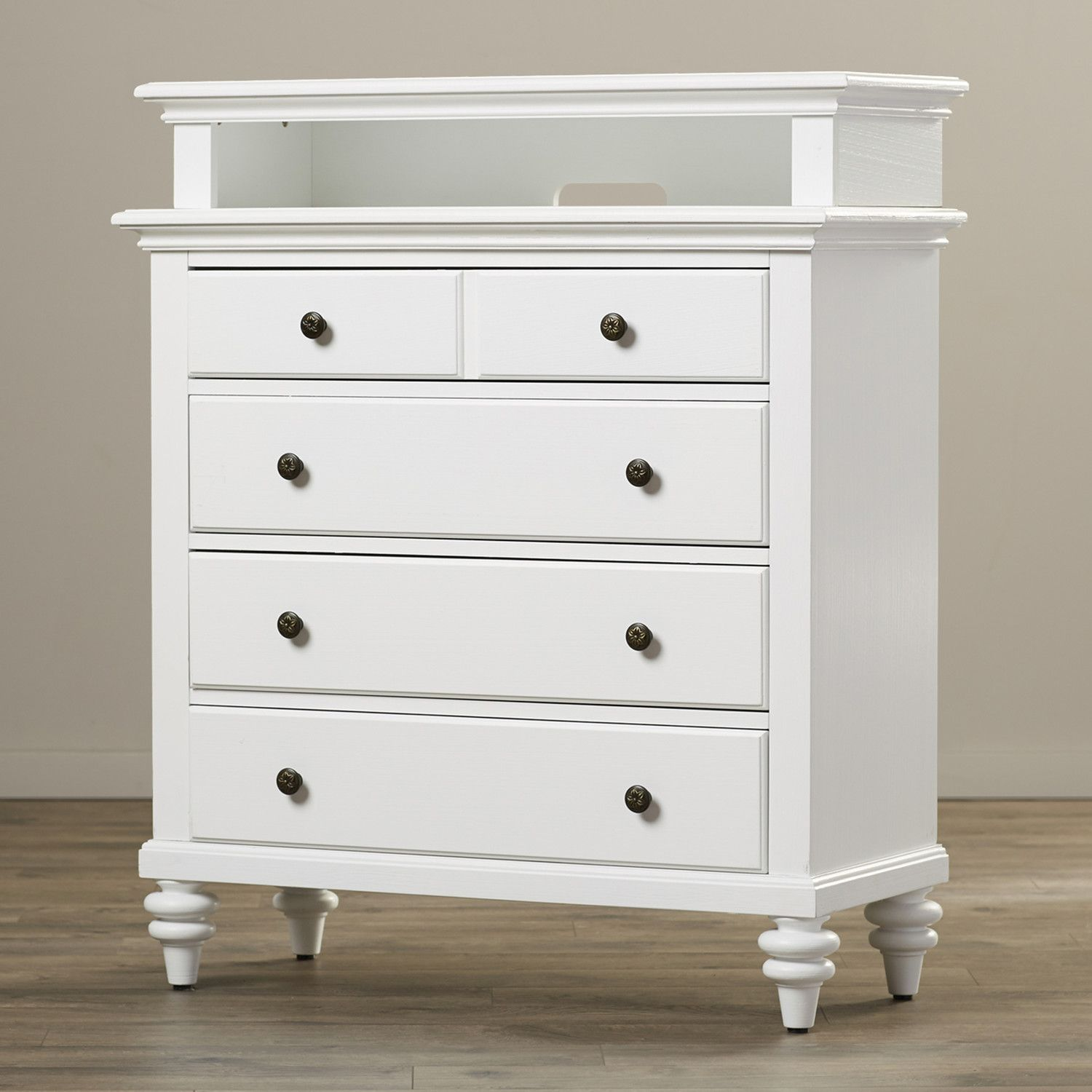 Pretty White Tall Media Chest With Storage Places | Master Bedroom ...