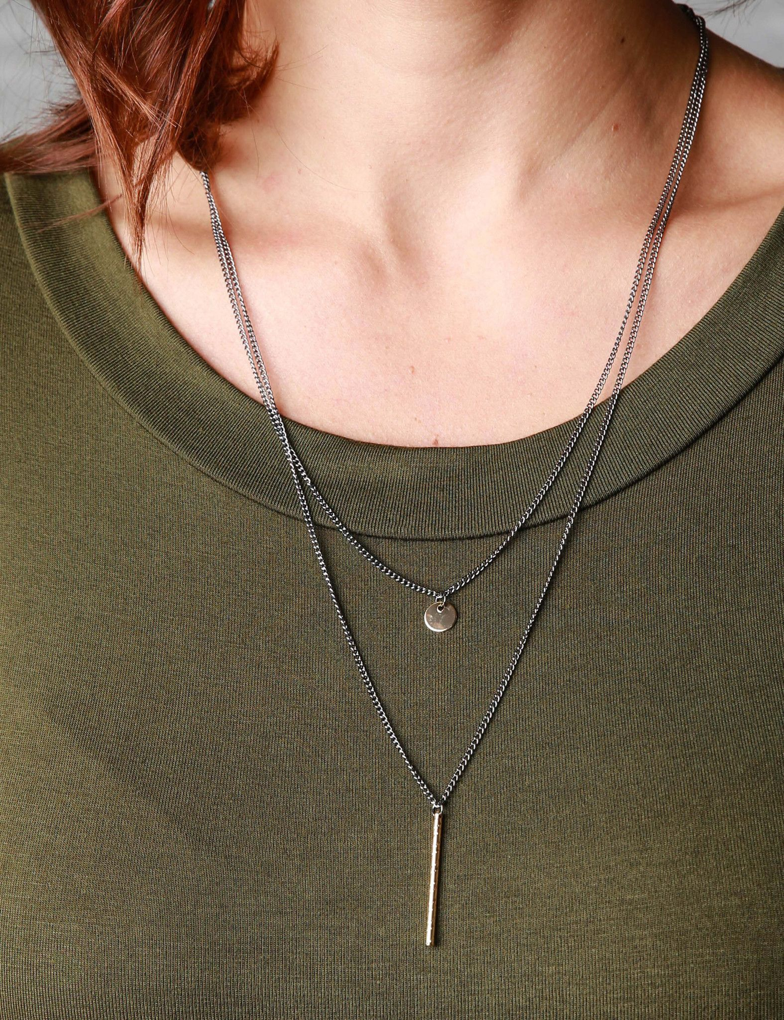 Sadie Bar and Dot Necklace