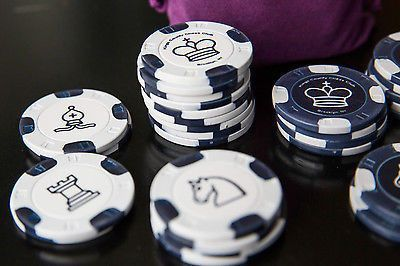 Chess set from Poker chips