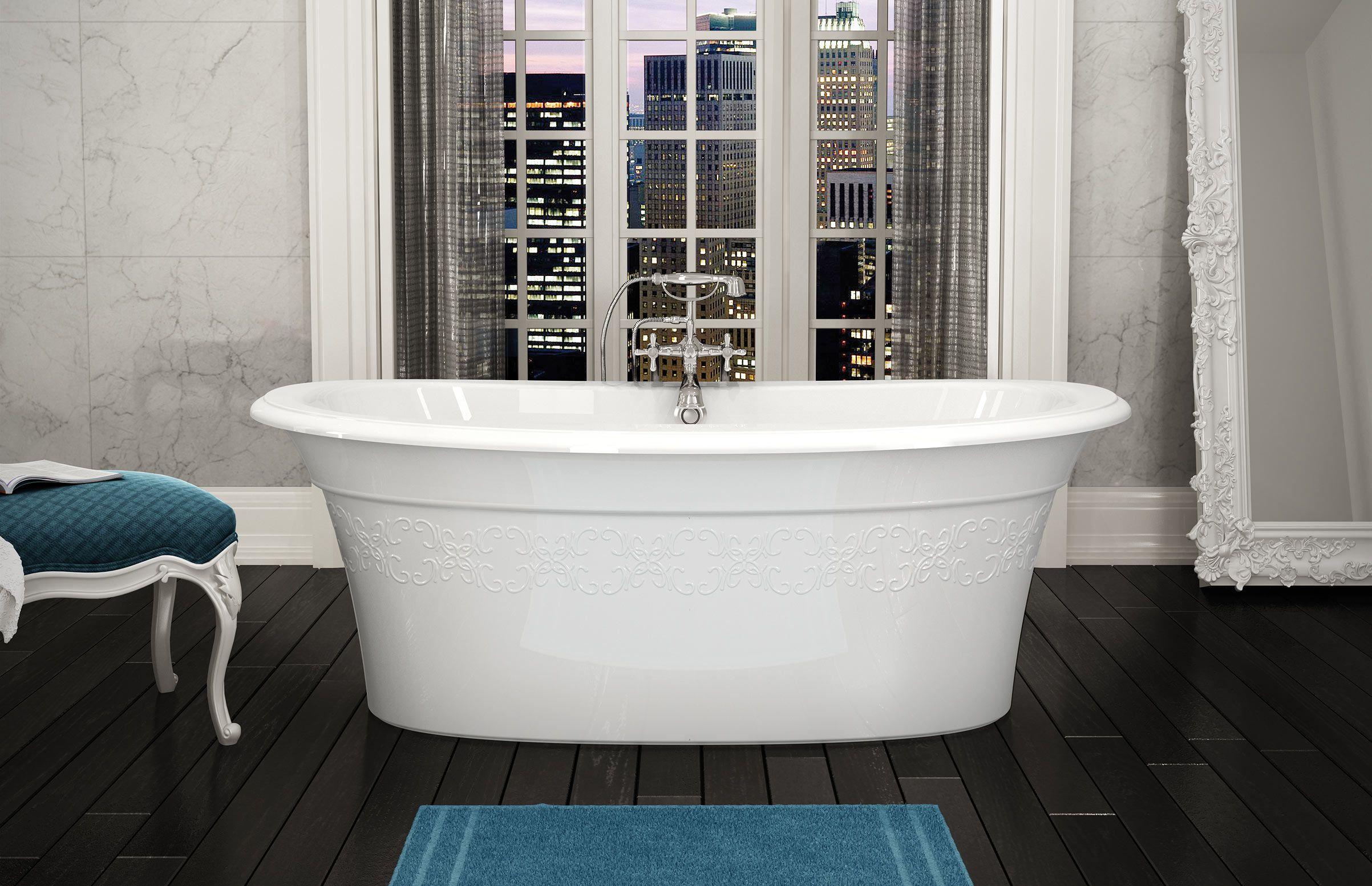MAAX   Ella Embossed Freestanding Bathtub Www.maax.com