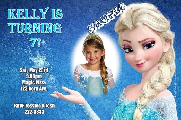 frozen the movie birthday invitations