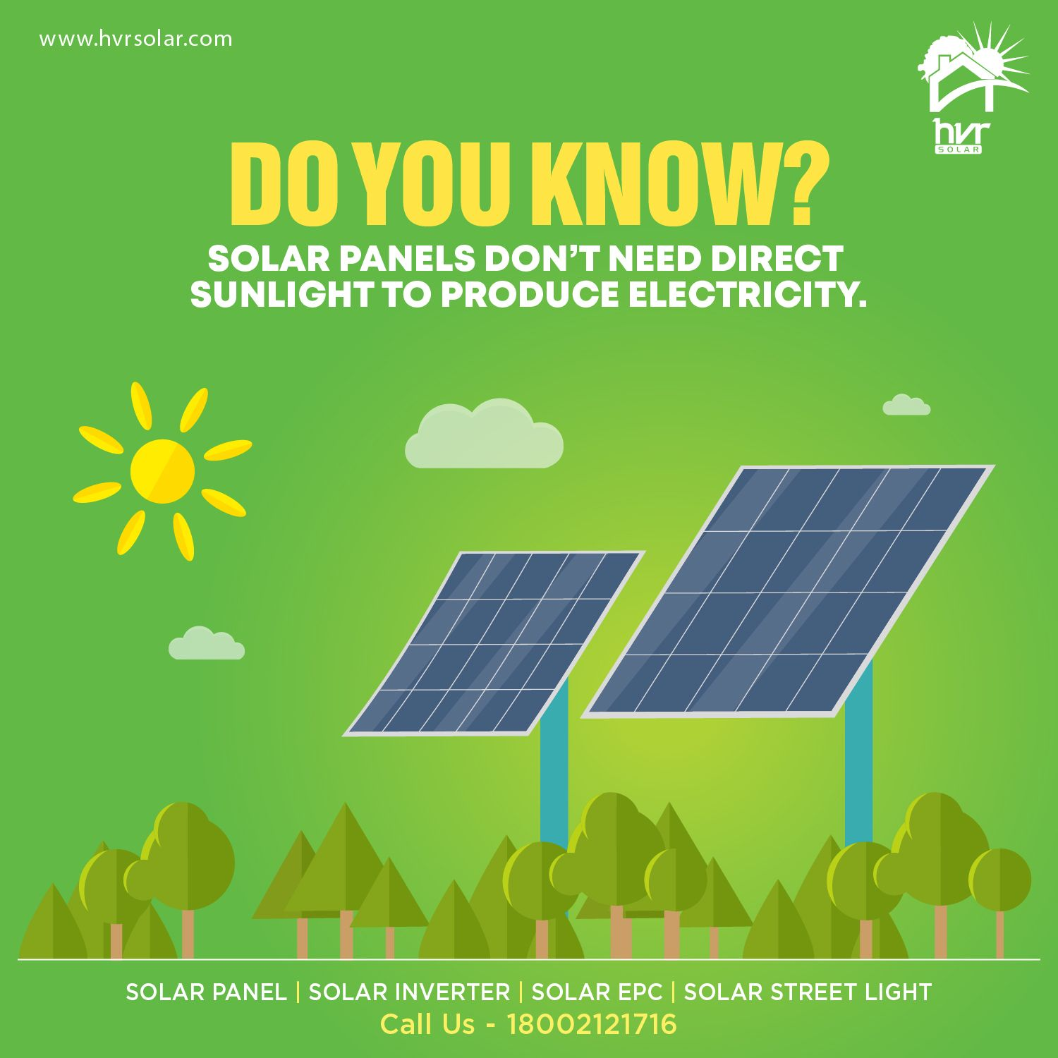 Though Through Direct Sunlight Solar Panels Produce More Solar Energy But They Can Still Produce Electricity I In 2020 Solar Panels Facts Solar Energy Solar Companies