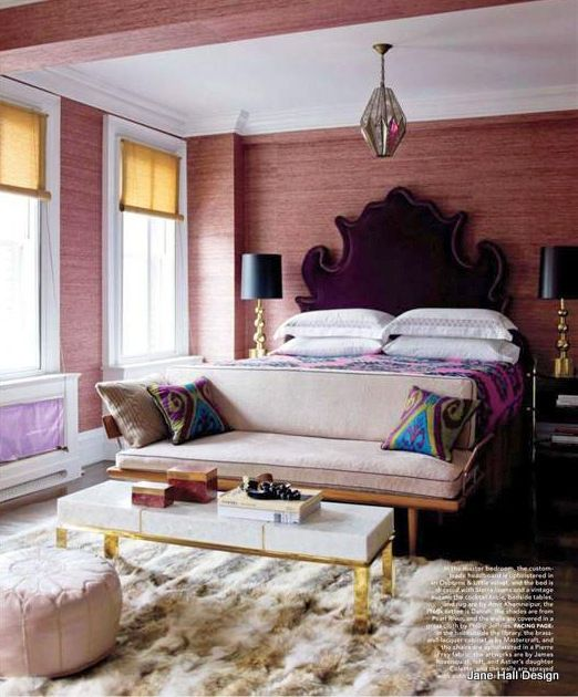 Eclectic Style bedroom featured in Maison Cote Sud, International design publication.
