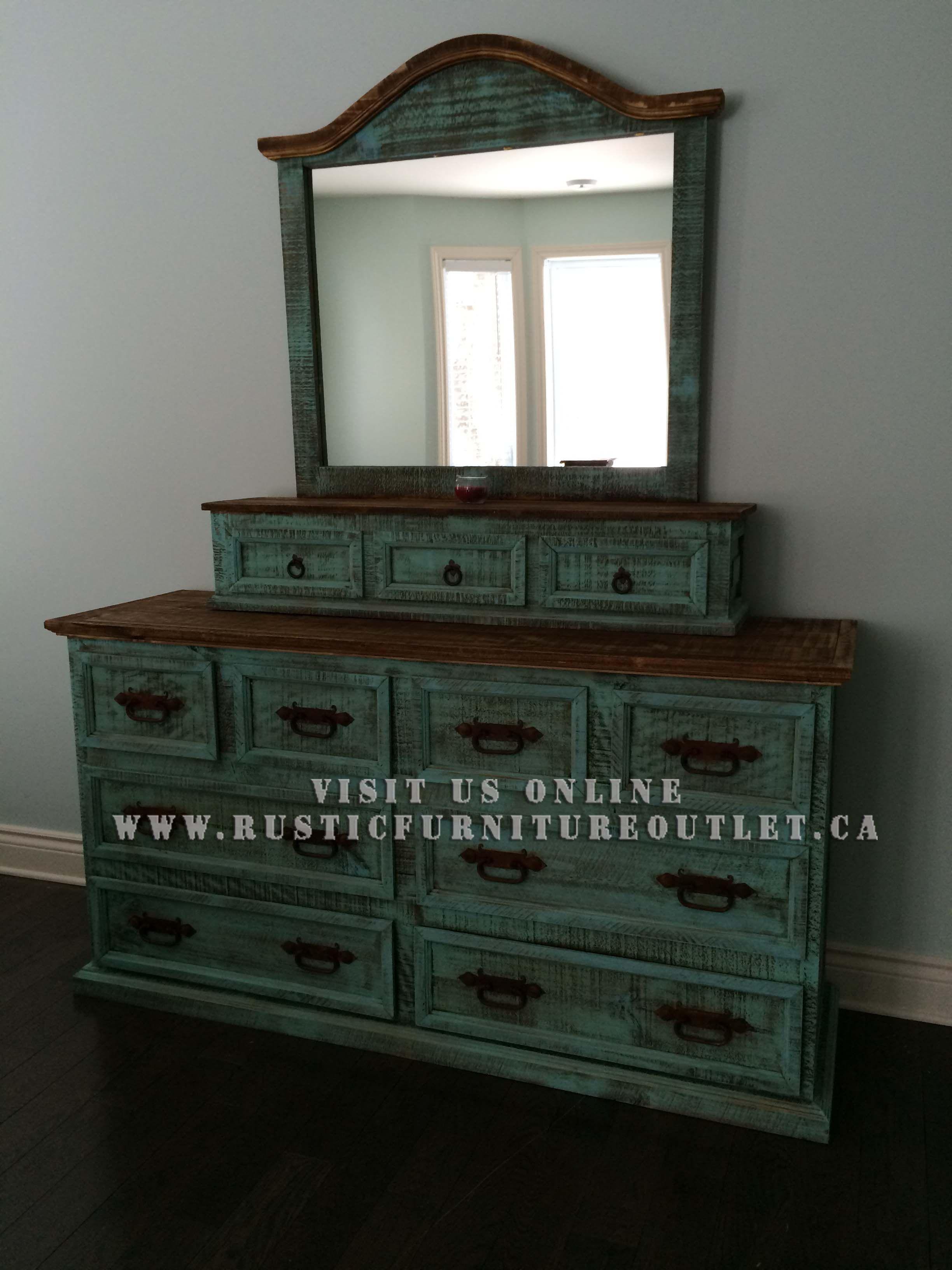 Rustic turquoise bedroom set sticfurnitureoutlet