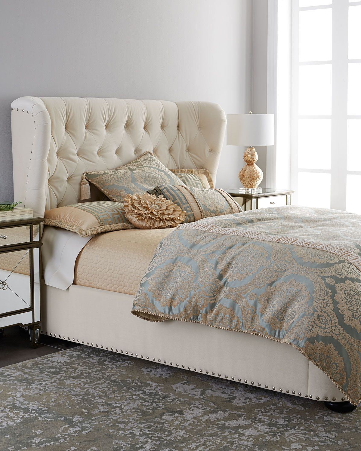 neiman marcus bedroom bath. monterey king tufted bed ivory neiman marcus bedroom bath y