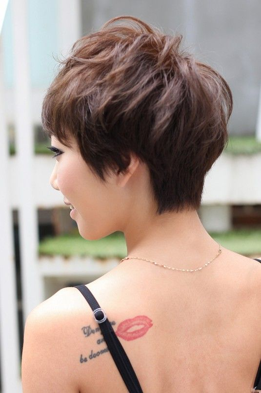 Back View Of Layered Short Pixie Haircut Hair Styles