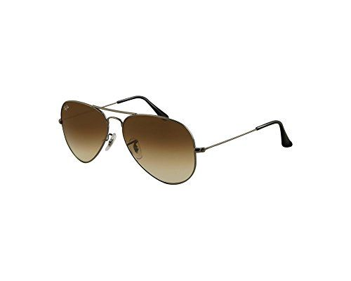 Ray-Ban Aviator Large Gunmetal Brun Dégradé