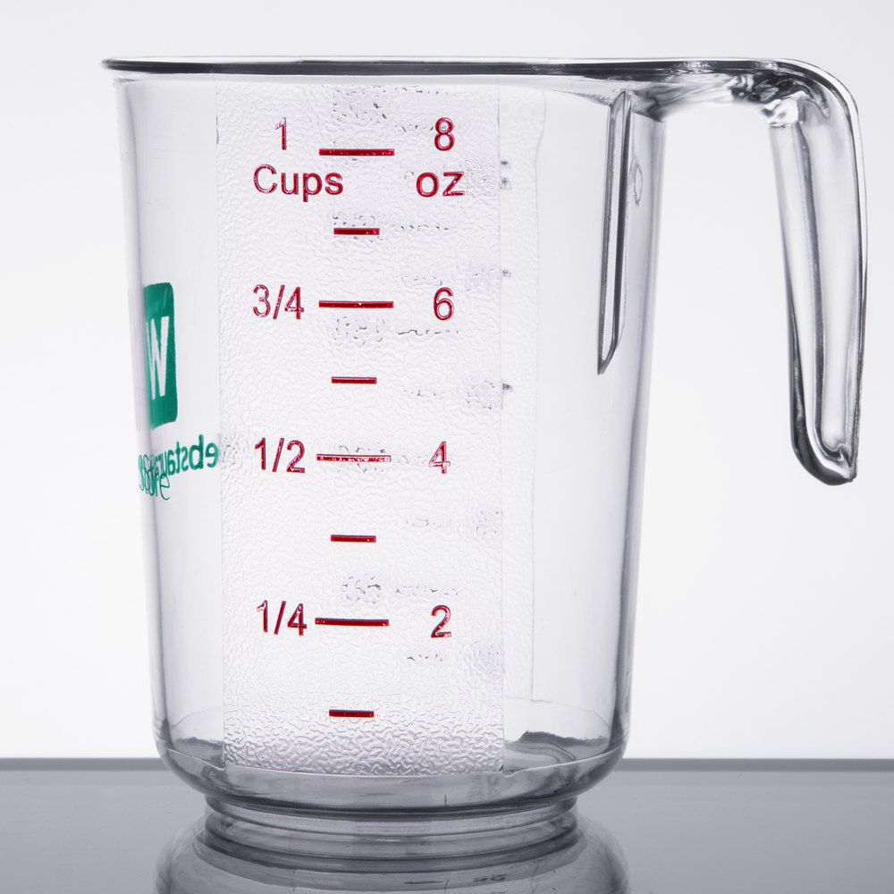 WebstaurantStore 1 Cup Clear Polycarbonate Measuring Cup   Measuring cups [ 1000 x 1000 Pixel ]