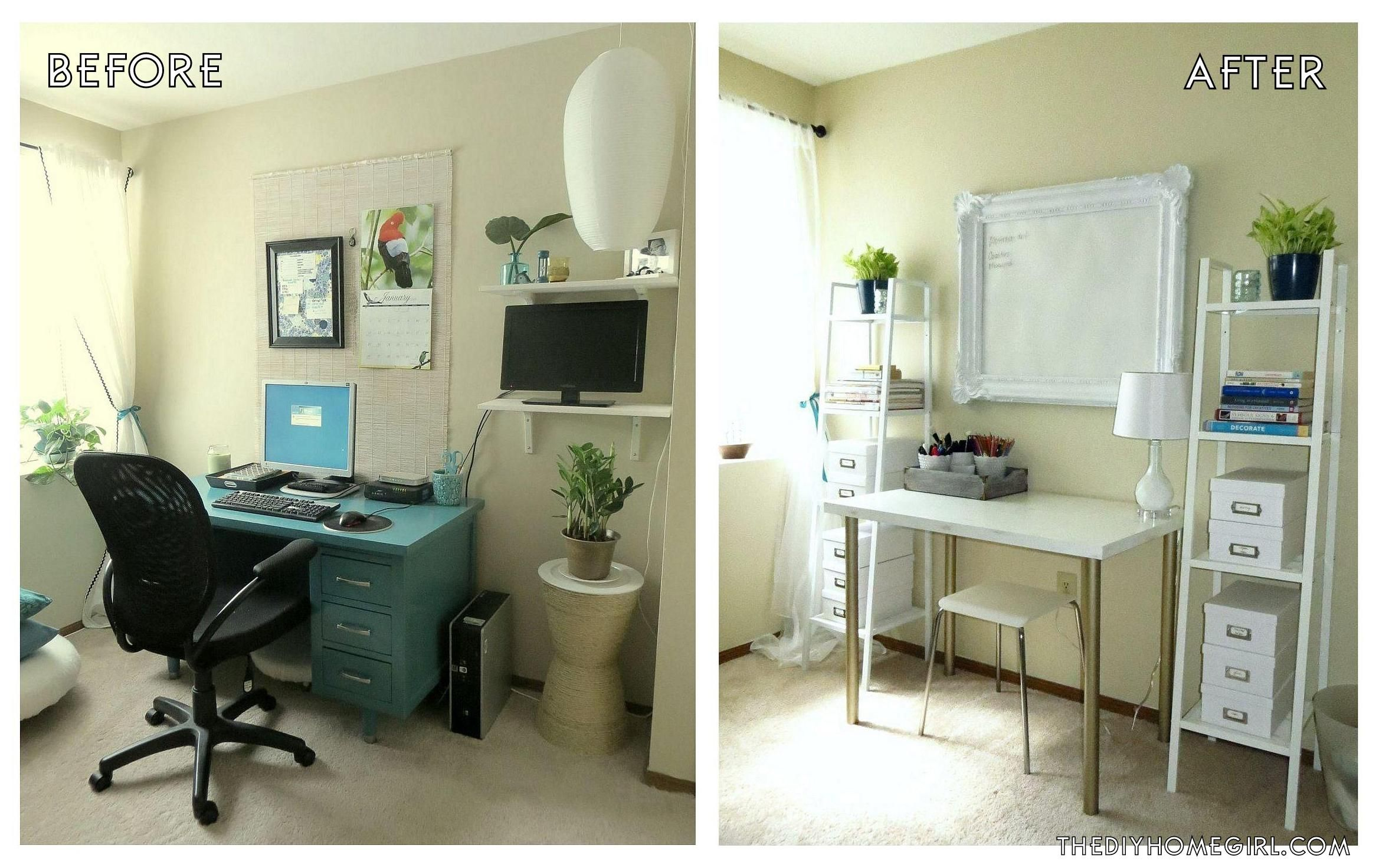 High Quality Home Office Makeover. Apartment Home Office Creative Workspace Makeover  Before And After The Decor Guru