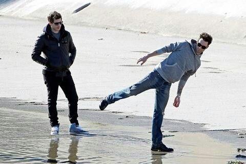 Adam Levine and Andy Samberg