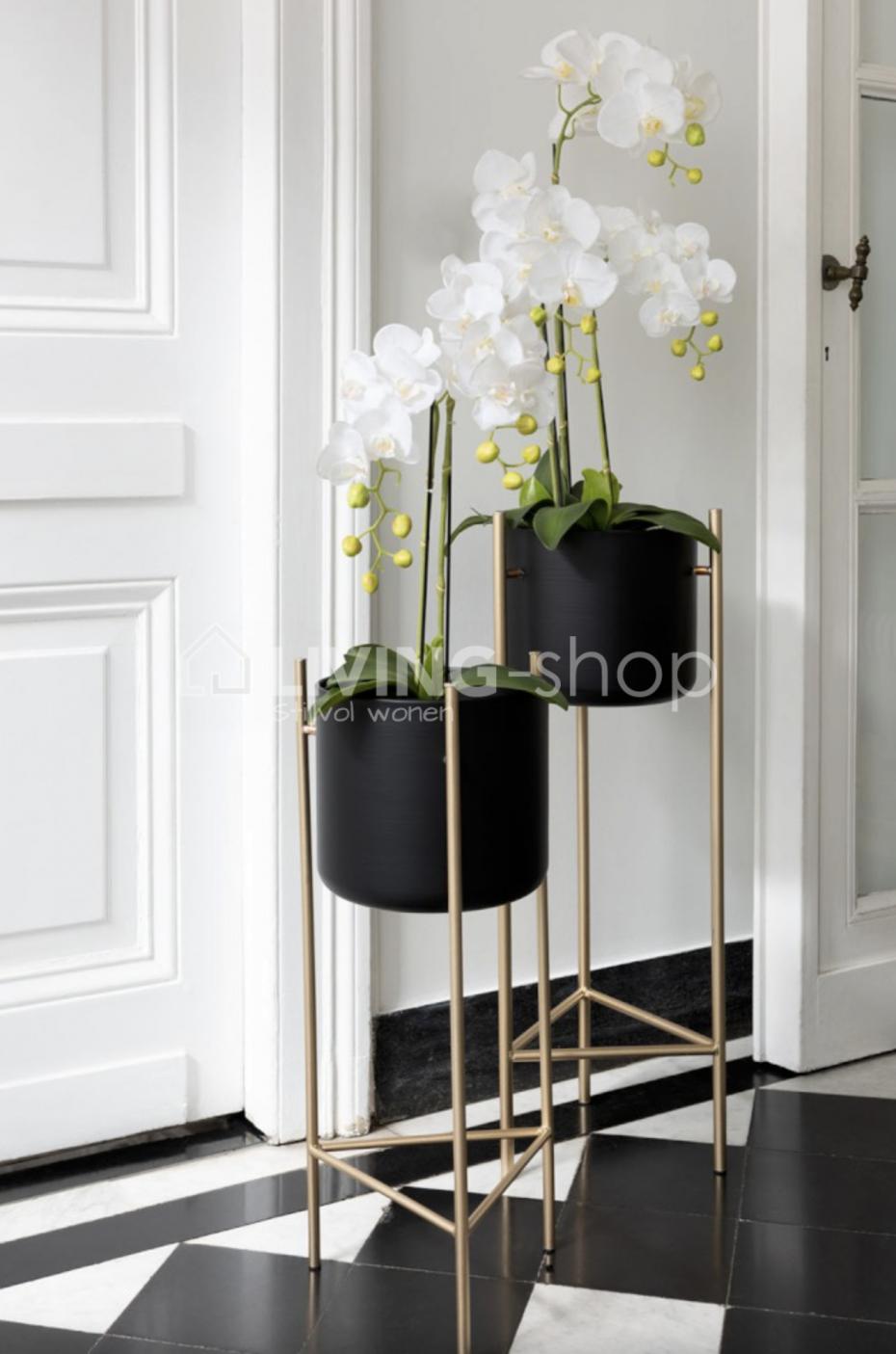 J Line Plantenstaander Op Voet Bloempothouder Met Bloempot Kamerplant Decor Plantenstaander Plantendecor