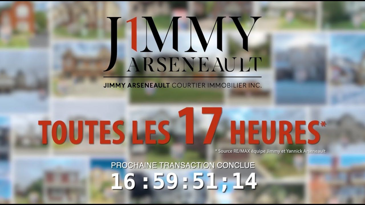 Nouvelle Pub TV 2019 Jimmy Arseneault RE/MAX 1 Nouveau
