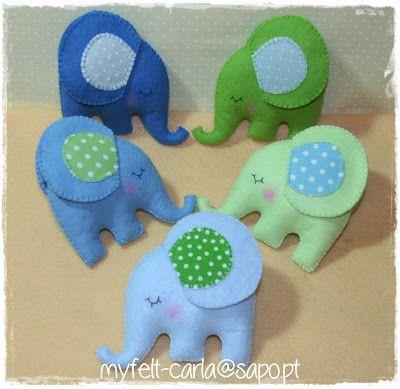 My Felt: Elefantes em feltro e tecido!