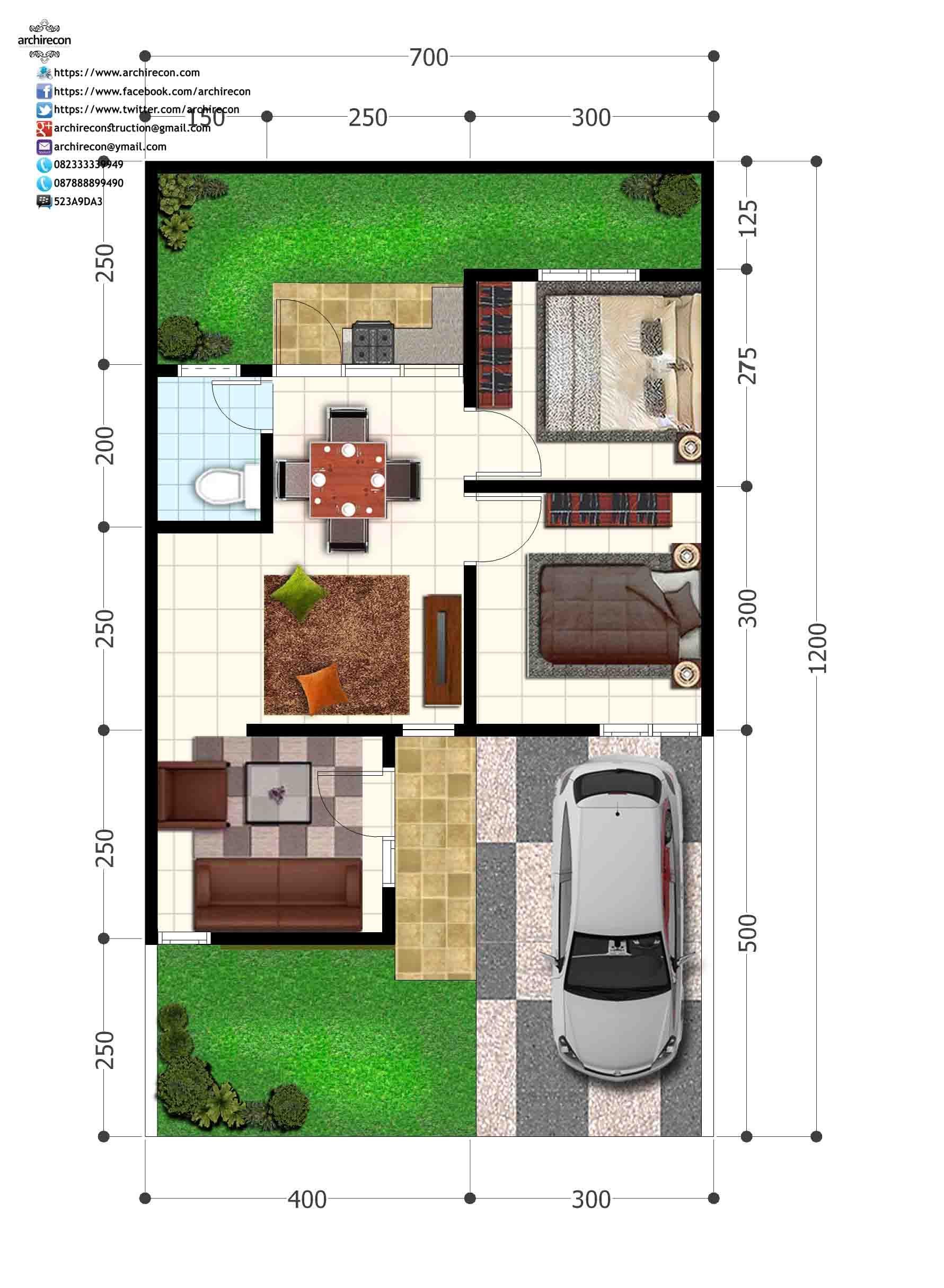 Pe an Green Land Villa Denah Type 45