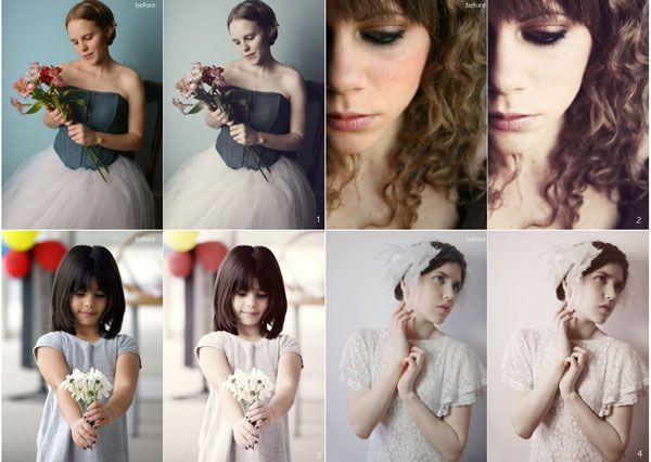 Photoshop CS5 Actions For Vintage Retro Wedding Photography Effects
