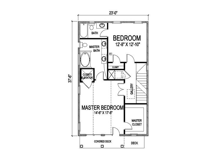 3rd Floor Plan 23 X 37 Coastal House Plans Floor Plans Small Floor Plans