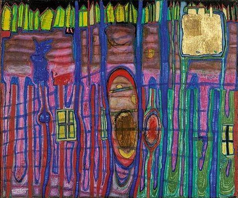 Garten Ohne Grund By Friedensreich Hundertwasser Friedensreich Hundertwasser Hundertwasser Abstract Artists